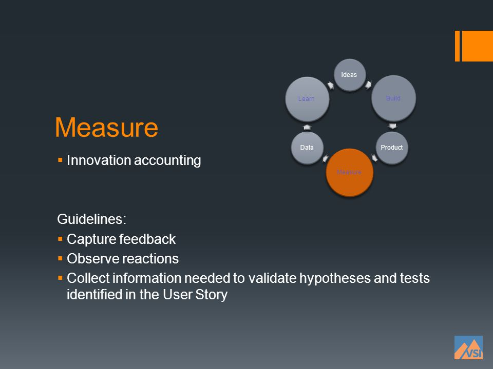 Measure Innovation accounting Guidelines: Capture feedback