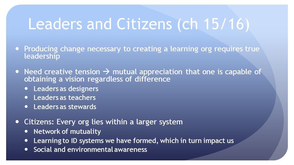 Leaders and Citizens (ch 15/16)