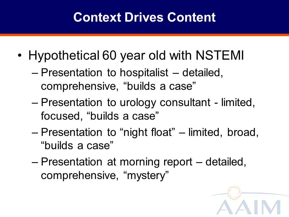Context Drives Content