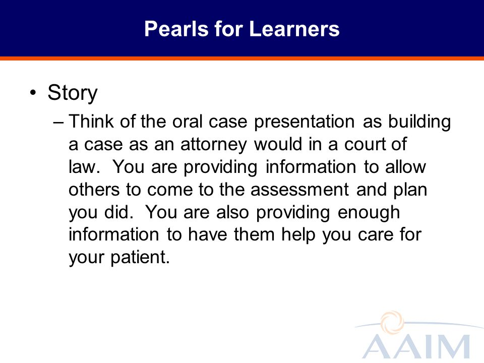 Pearls for Learners Story