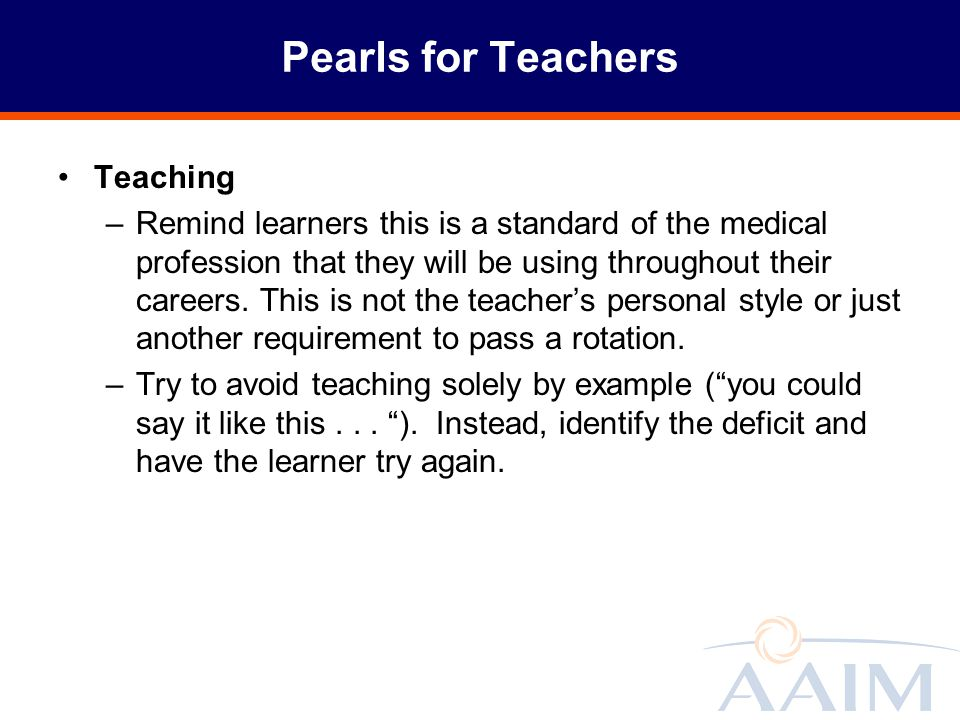 Pearls for Teachers Teaching