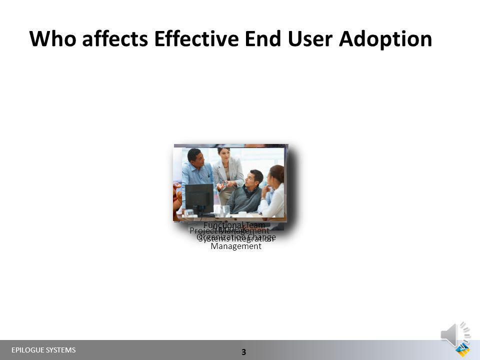 Who affects Effective End User Adoption