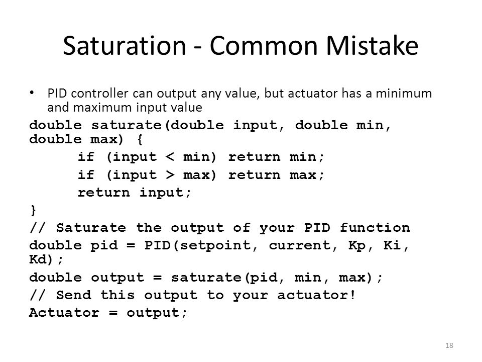 Saturation - Common Mistake