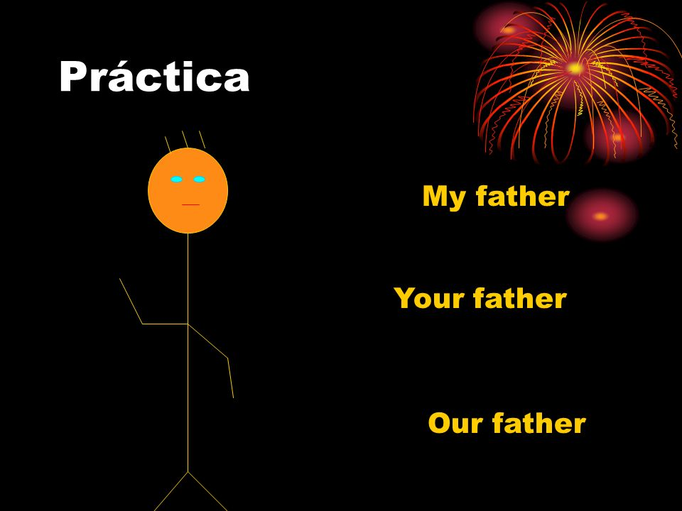 Práctica My father Your father Our father