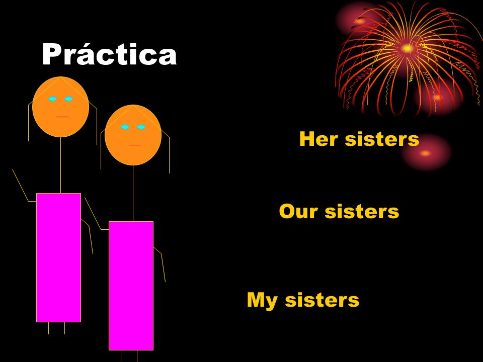 Práctica Her sisters Our sisters My sisters