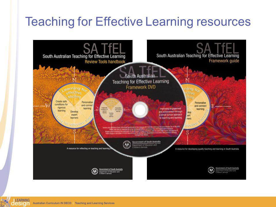 Teaching for Effective Learning resources