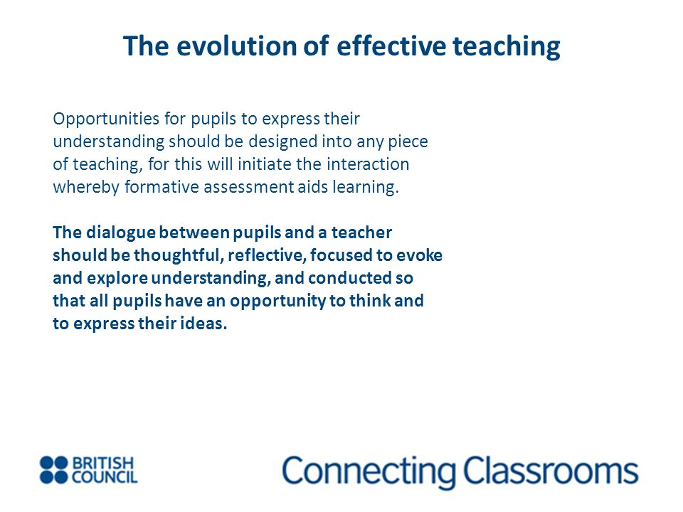 The evolution of effective teaching