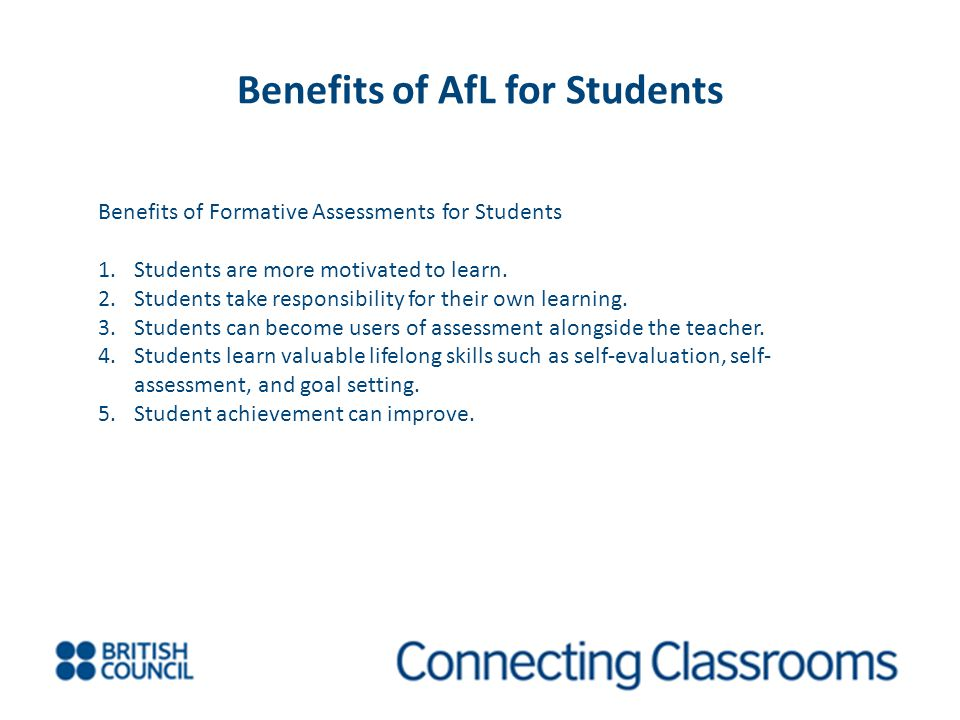 Benefits of AfL for Students