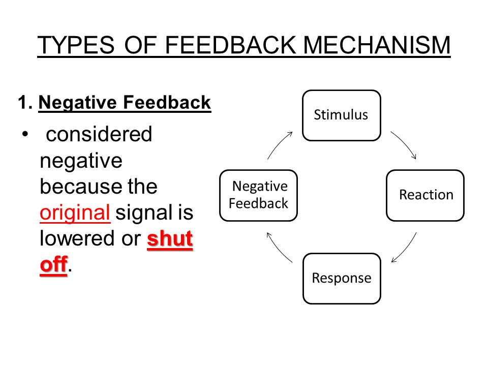 feedback mechanisms If you've ever played a video game, you've experienced a feedback mechanism what feedback mechanisms do you use to improve performance read more.