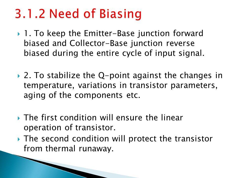 3.1.2 Need of Biasing