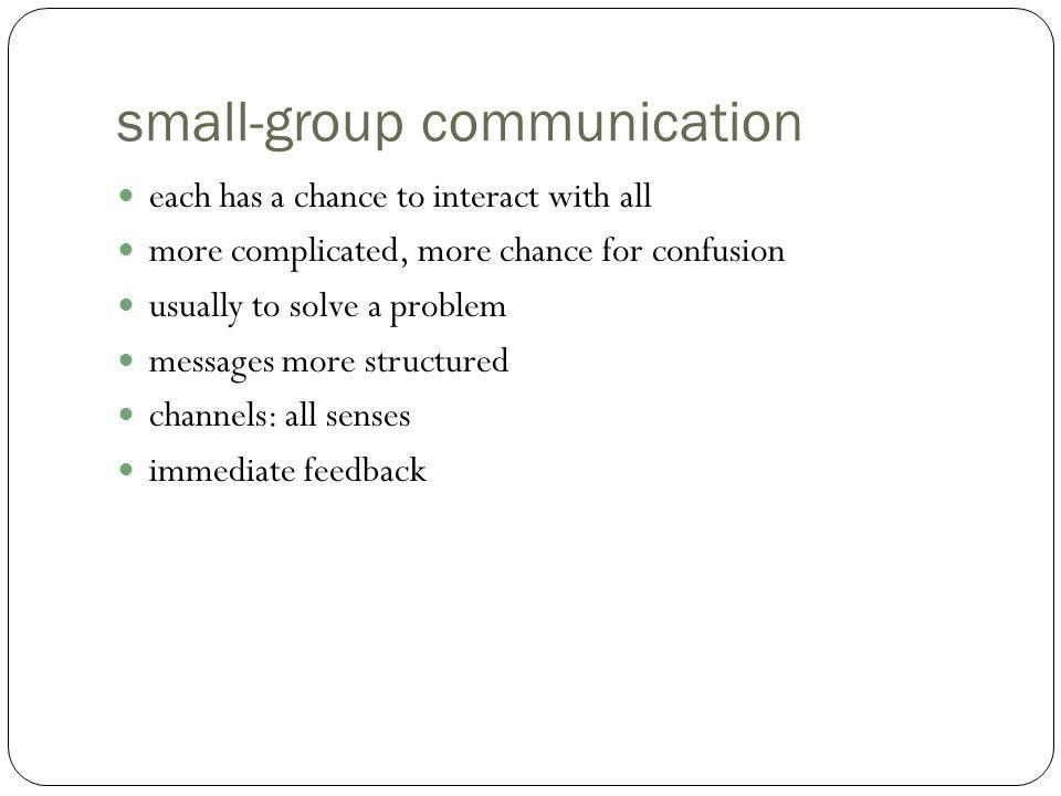 small-group communication