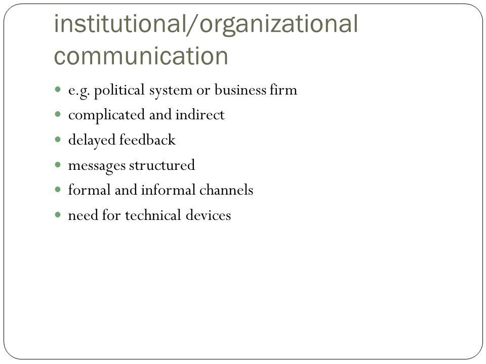 institutional/organizational communication