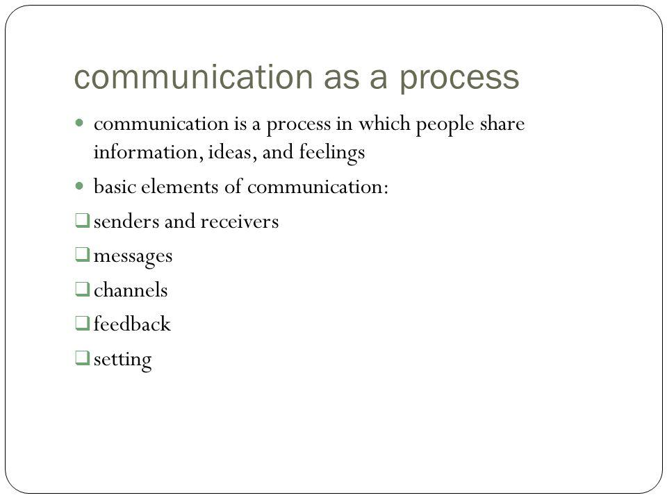 communication as a process