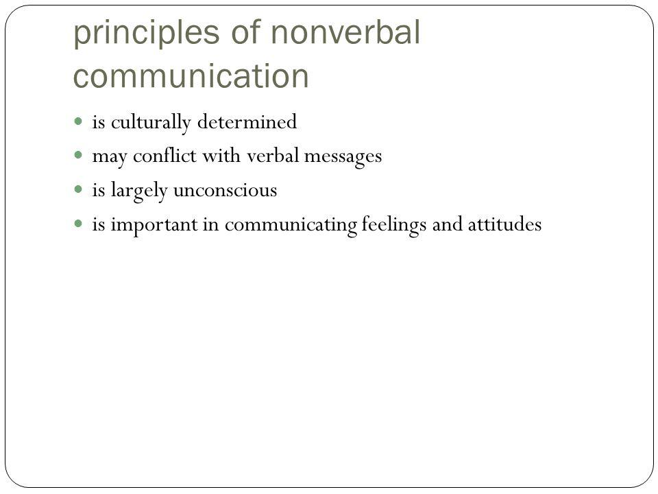 principles of nonverbal communication