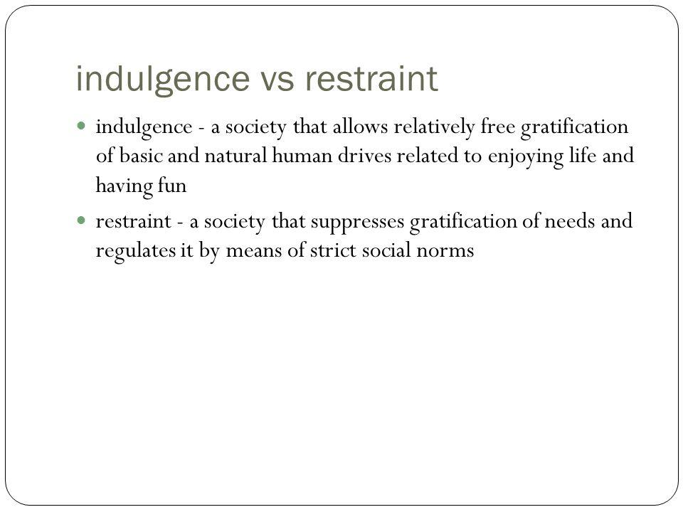 indulgence vs restraint