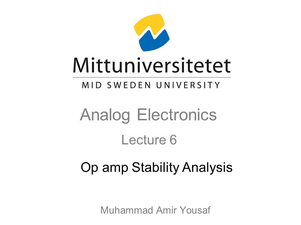 Op amp Stability Analysis
