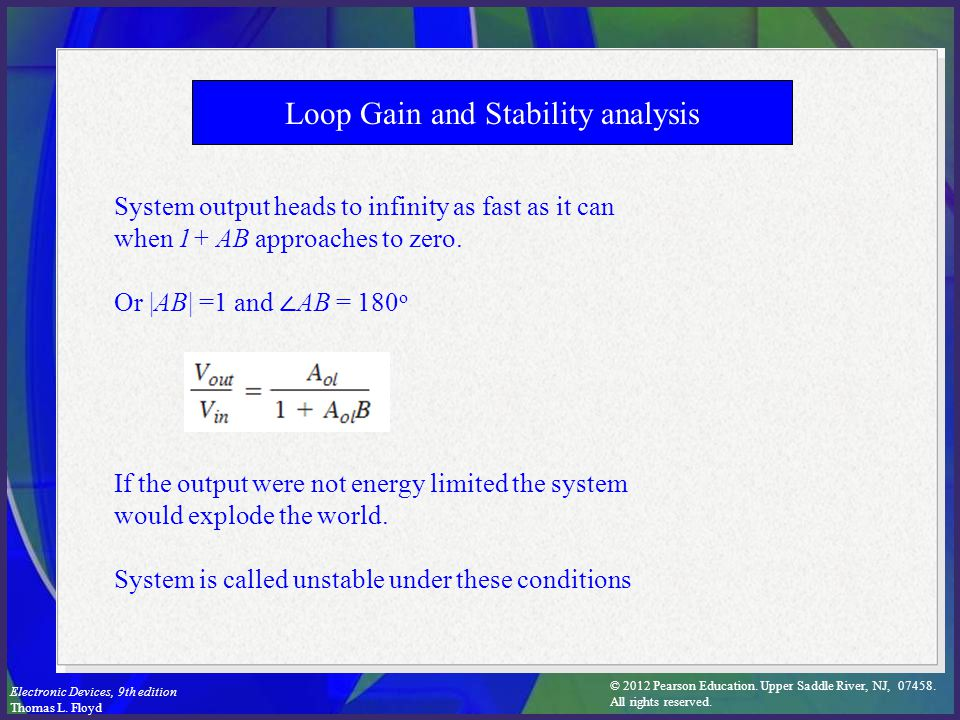 Loop Gain and Stability analysis
