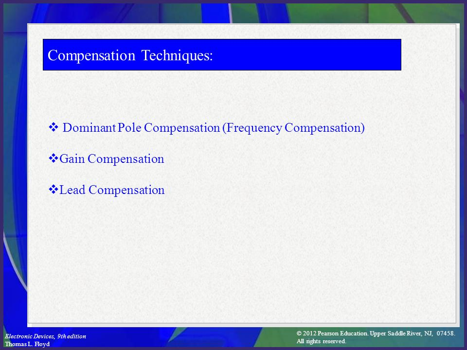 Compensation Techniques: