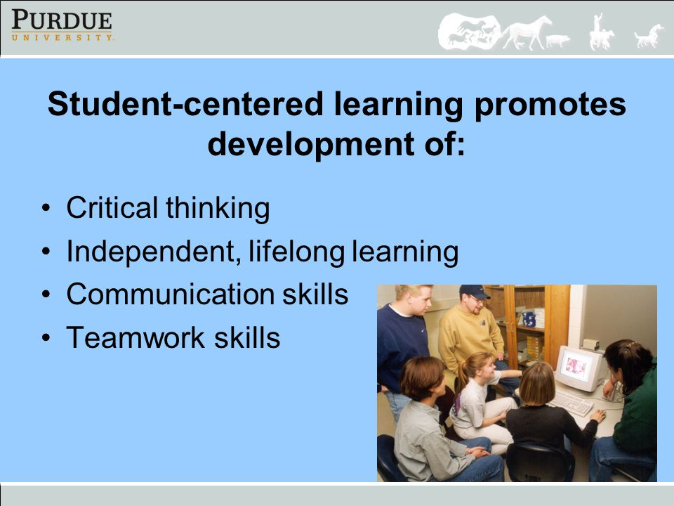 Student-centered learning promotes development of: