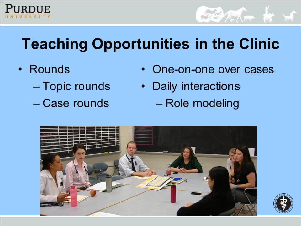 Teaching Opportunities in the Clinic