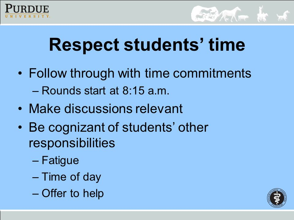 Respect students' time