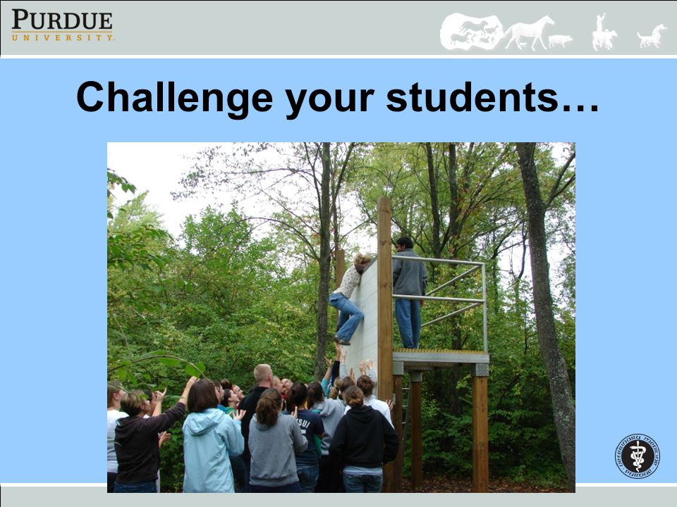 Challenge your students…