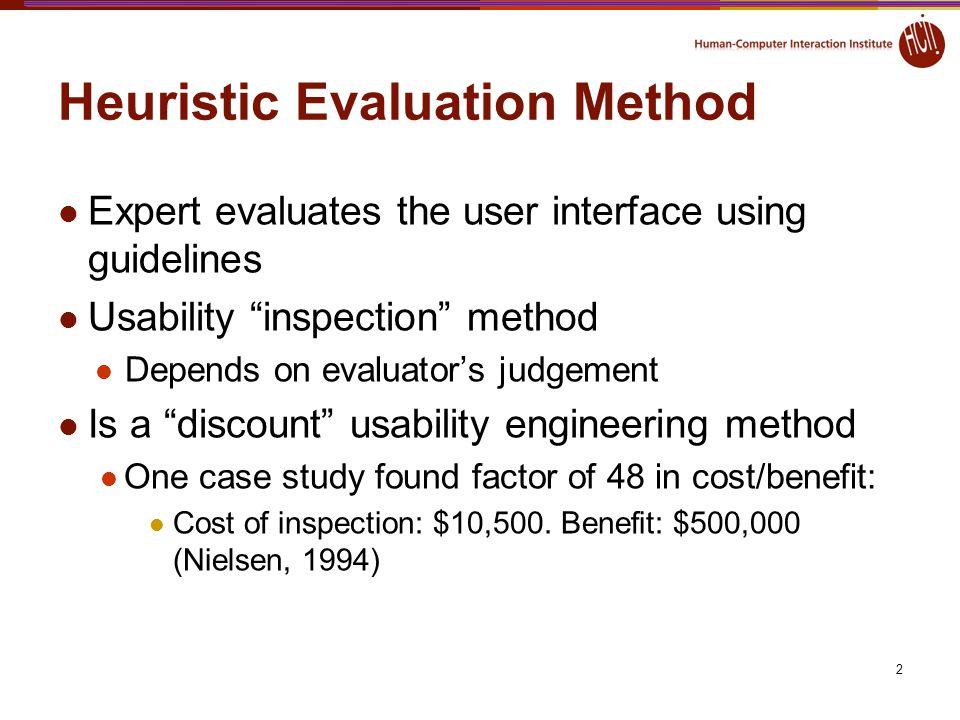 Heuristic Evaluation Method