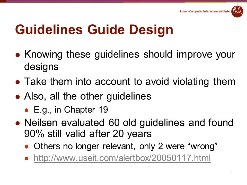 Guidelines Guide Design
