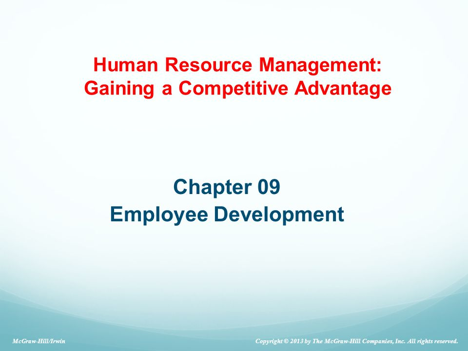 Chapter 09 Employee Development