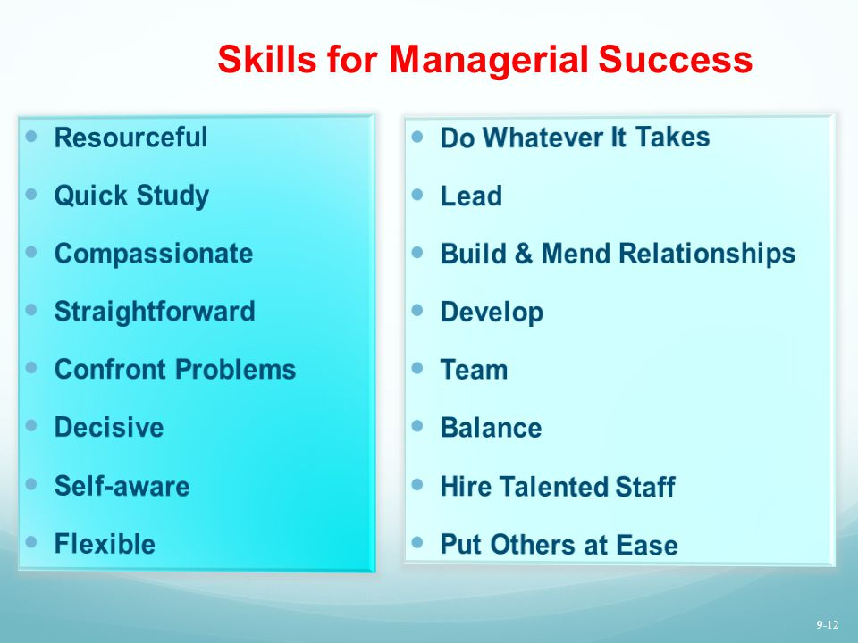 Skills for Managerial Success
