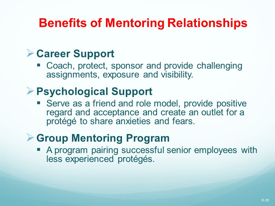 Benefits of Mentoring Relationships