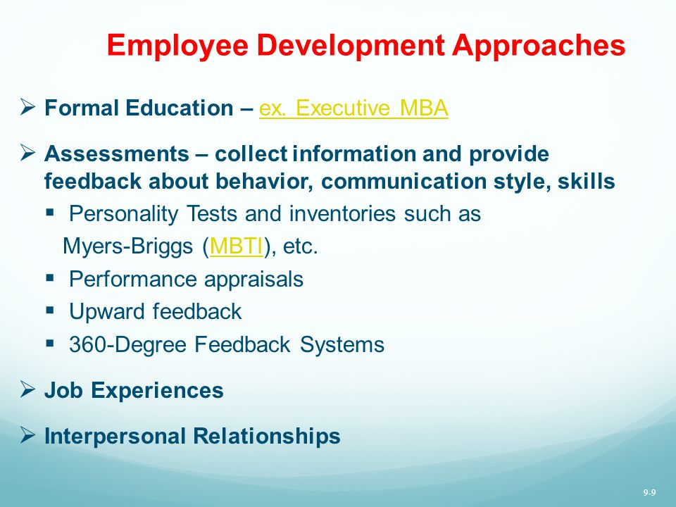 Employee Development Approaches
