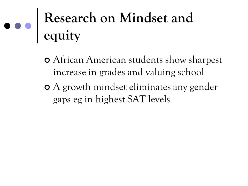 Research on Mindset and equity