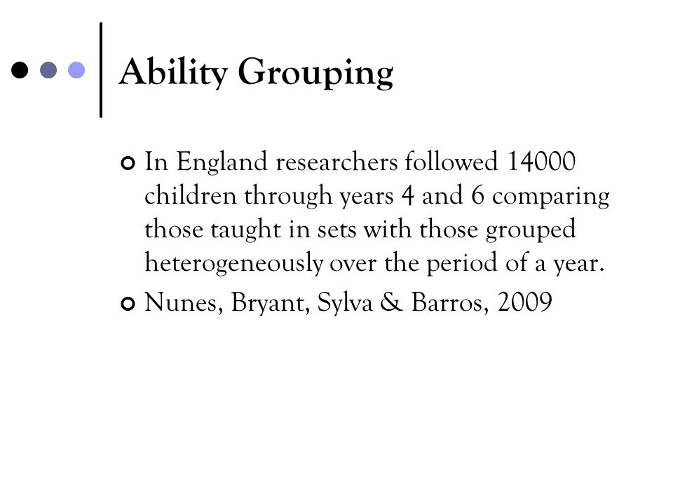 Ability Grouping