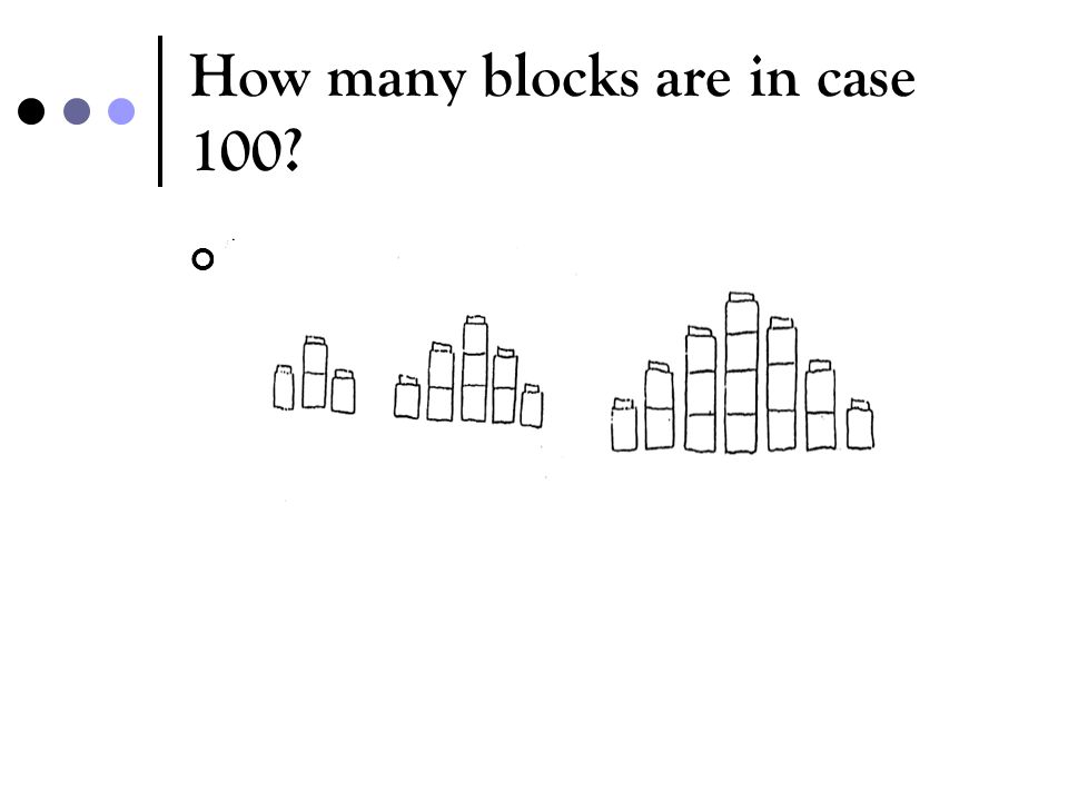 How many blocks are in case 100