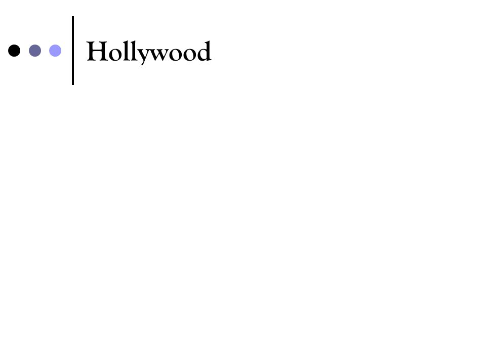 Hollywood another