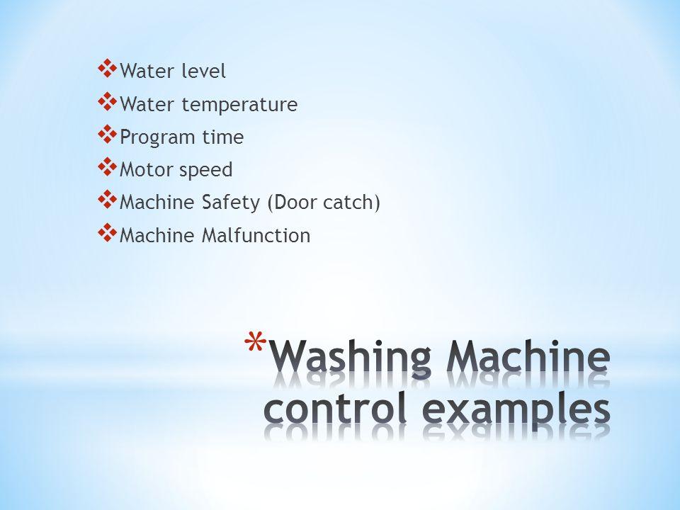 Washing Machine control examples