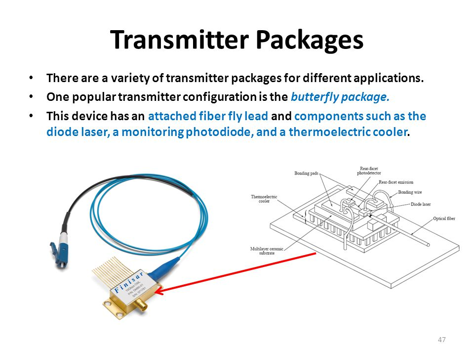 Transmitter Packages There are a variety of transmitter packages for different applications.