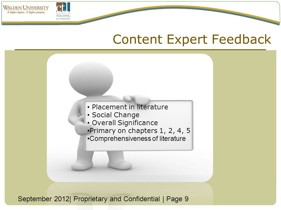 Content Expert Feedback
