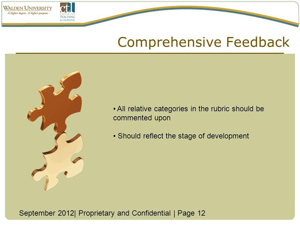 Comprehensive Feedback