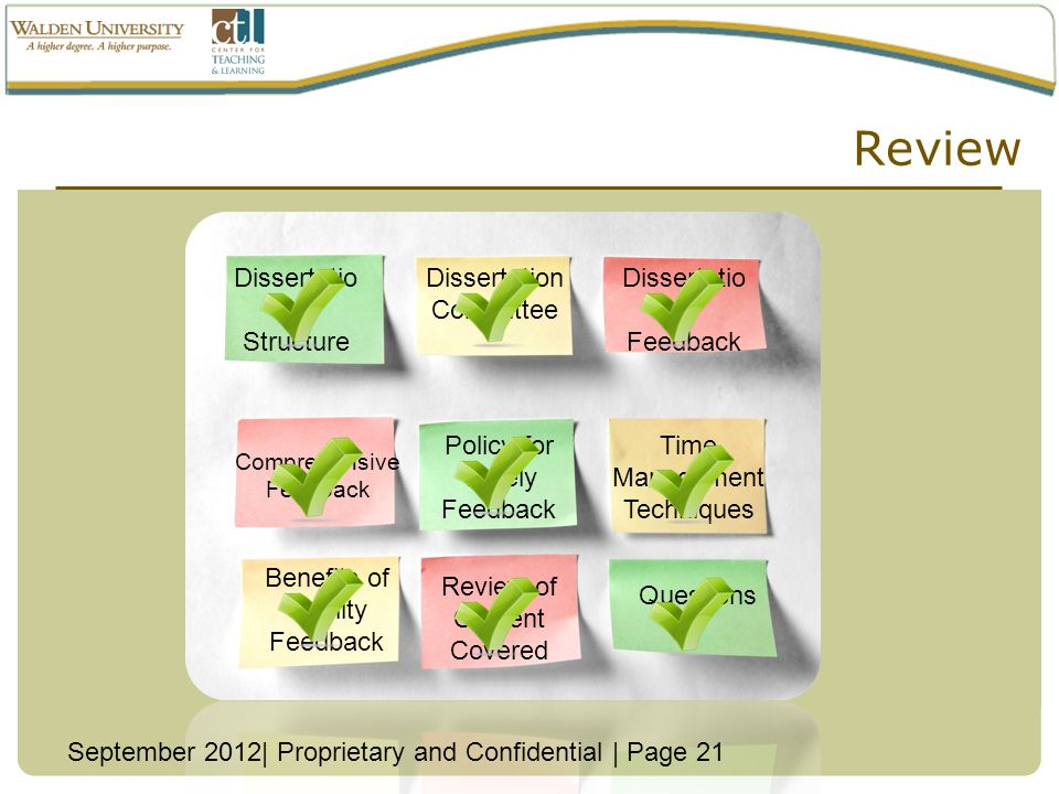 Review Dissertation Structure Dissertation Committee