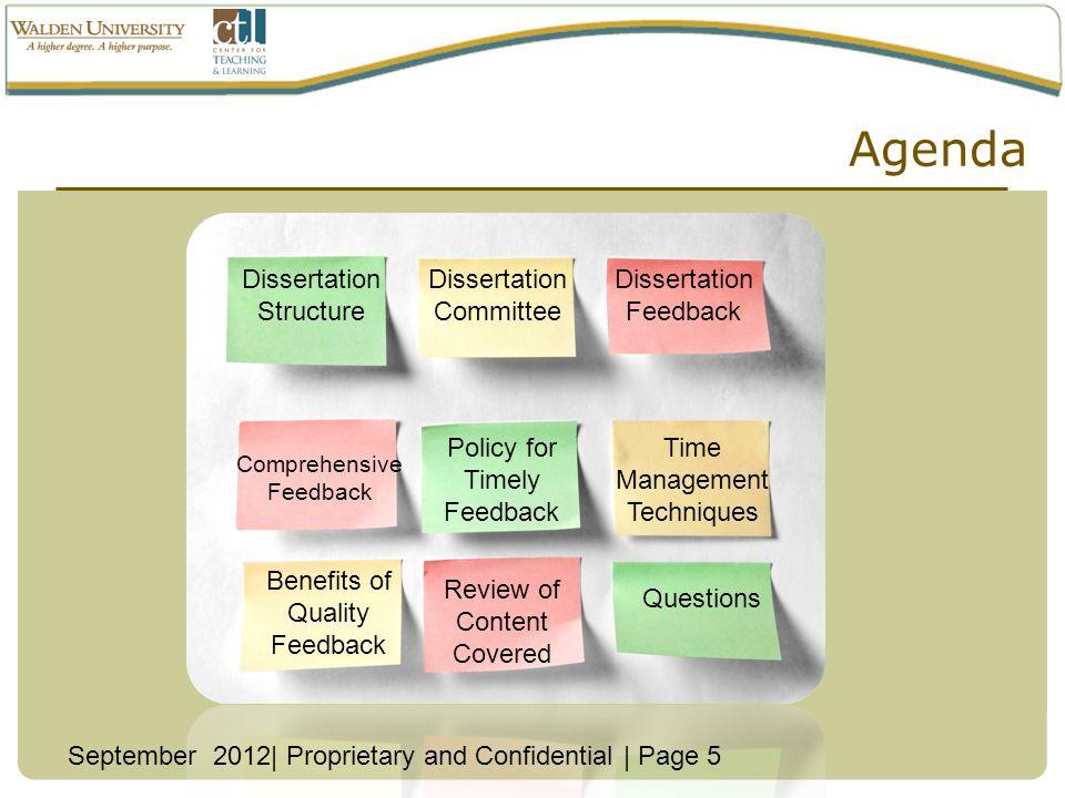 Agenda Dissertation Structure Dissertation Committee