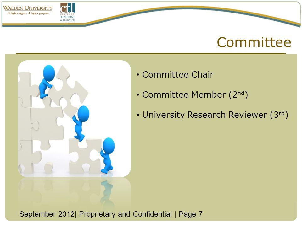 Committee Committee Chair Committee Member (2nd)