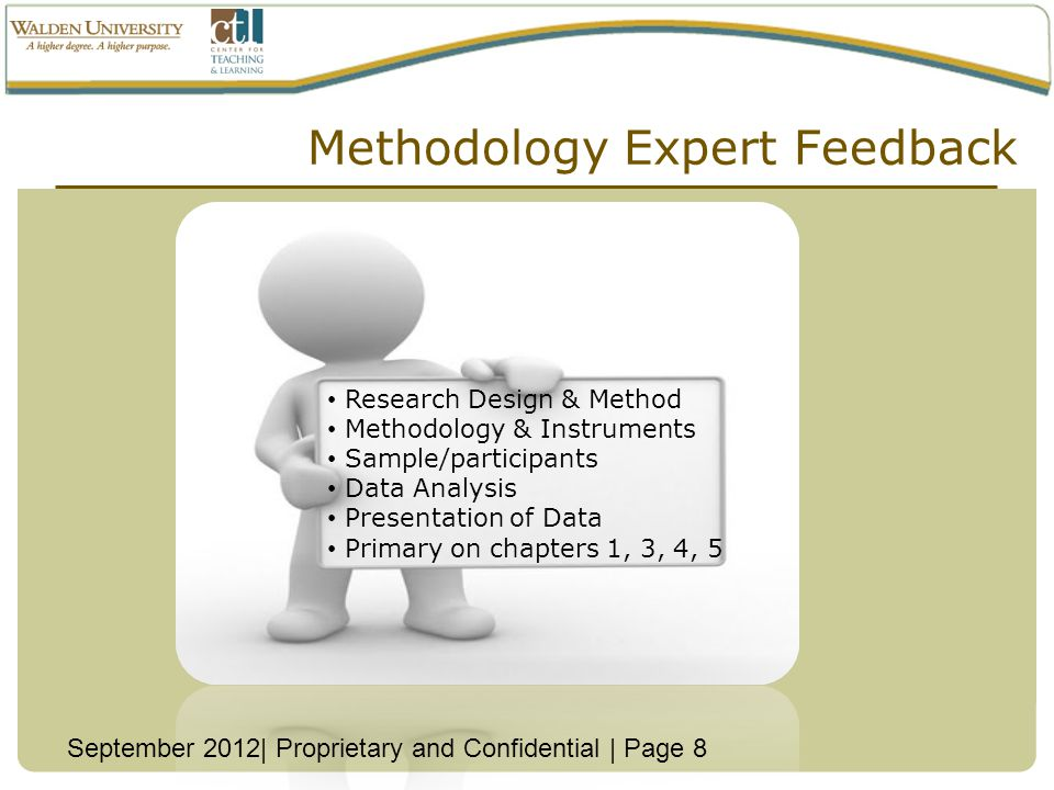 Methodology Expert Feedback
