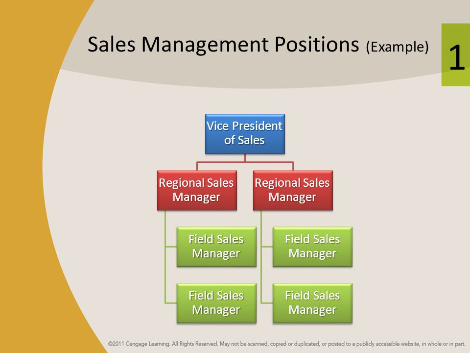 Sales Management Positions (Example)