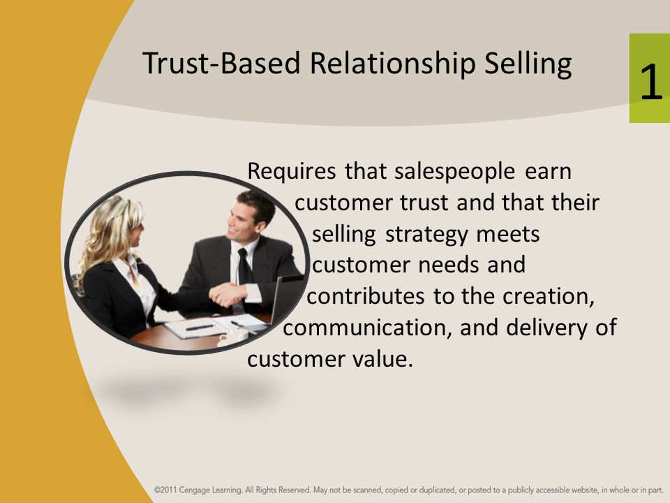 Trust-Based Relationship Selling