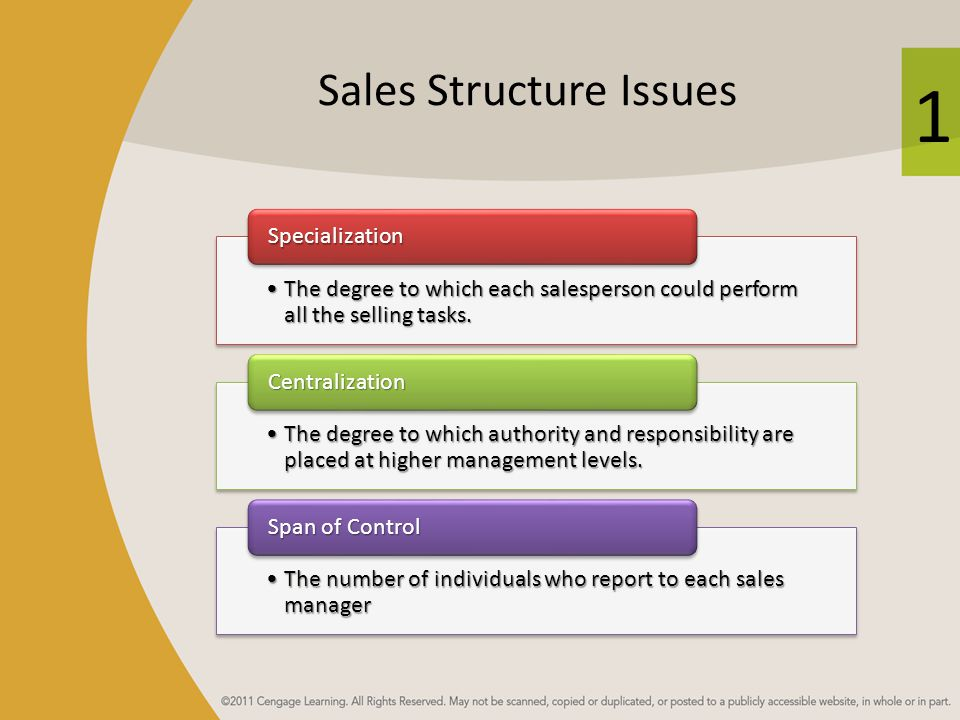 Sales Structure Issues