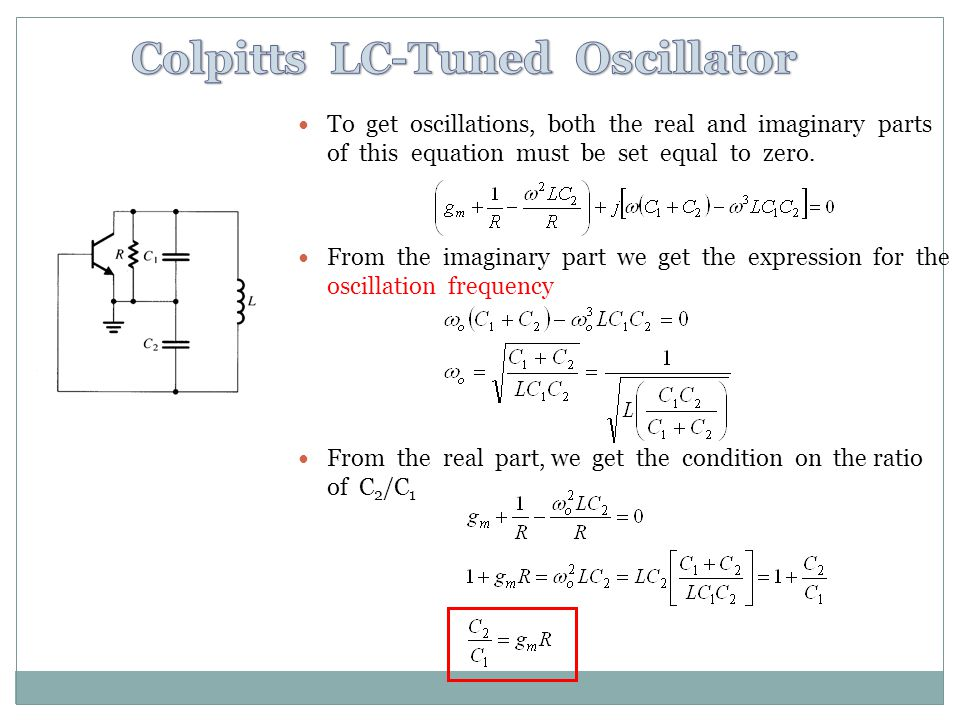 Colpitts LC-Tuned Oscillator