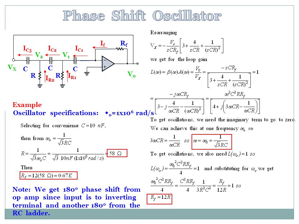 Phase Shift Oscillator