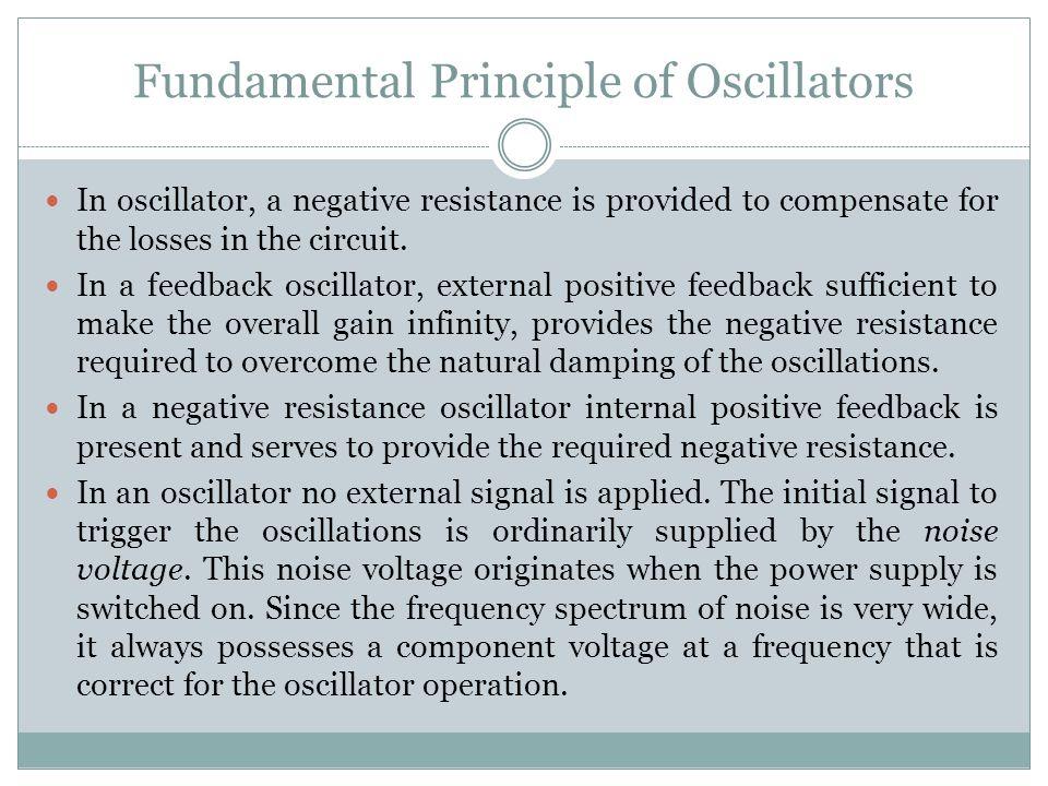 Fundamental Principle of Oscillators